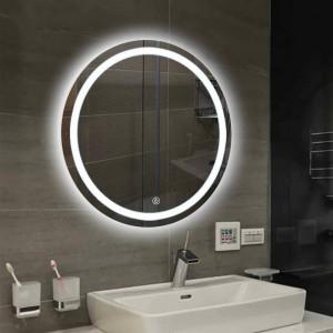 Interruttore da parete a LED per specchio da bagno a parete tondo sospeso per wc specchio da trucco specchio tattile Luce calda bianca mx12151606