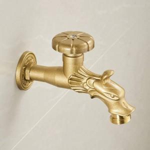 Bidcock rubinetto bronzo antico drago intagliato rubinetto bagno mop rubinetto lavatrice rubinetto esterno rubinetto per giardino 811637