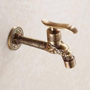 Bidcock rubinetto bronzo antico drago intagliato rubinetto bagno mop rubinetto lavatrice rubinetto all'aperto rubinetto per giardino HJ-7663F