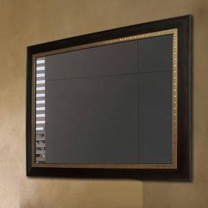 Specchio bagno in legno di noce nero specchio da parete quadrato specchio per il trucco specchio da soggiorno wx8221431