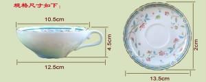 Tazze da tè pomeridiane tazzine da caffè di qualità alloconoplastica allocontoplasmatica set di tazze da caffè e piattini