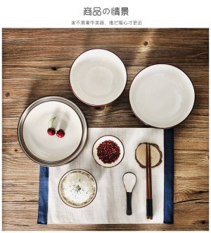 Piatti di riso da tavola in ceramica in stile giapponese in ceramica per uso domestico
