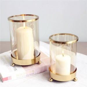 Breve portacandele Placcatura in metallo Base di candele Aromaterapia Luce notturna Cena a lume di candela Decorazione natalizia Artigianato Ornamento