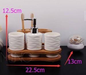 Set da bagno in ceramica da quattro pezzi Set da bagno in kit da lavaggio shukoubei dentale Portasapone Porta spazzolino