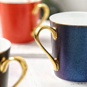 Stelle luminose Tazza d'ossa Bordo in porcellana Tazzine di caffè Tazzine da colazione Tazza da acqua per caffè espresso tè da caffè tazas de cafe casa Bere