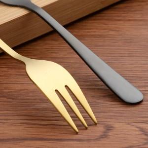 Forchetta da pranzo in acciaio inossidabile 18/10 Set da 5,6 pollici di utensili da posate lucidati a specchio da 12 pezzi Forchette d'argento per insalata