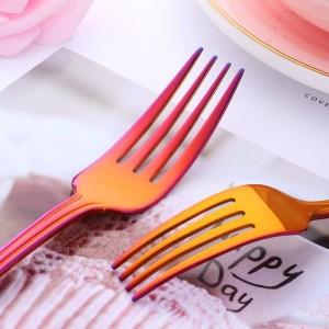 Set di stoviglie da 40 pezzi Set di forchette da coltelli in acciaio inossidabile 304 Servizio da tavola Set da cucina occidentale in argento dorato Servizio per 8 persone