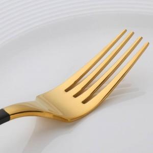 Set di posate placcato in oro 4 pezzi Set di coltelli da tavola Set di posate da tavola in acciaio inossidabile Novità Servizio da tavola Servizio da tavola