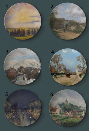 Camille Pissarro Piatti decorativi per pittura Francia Piatto artistico per la casa Hotel Soggiorno Sfondo Display Piatti per pittura ad olio