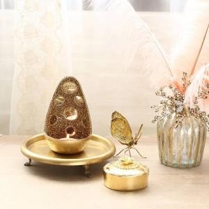 Ornamenti candeliere Set matrimonio Ornamenti fatti a mano stile esotico lusso specchiato lucido