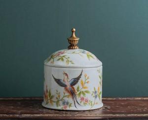 Barattolo di caramelle retro-nostalgia Barattolo di ceramica europeo Barattolo sigillato Barattolo di tè Deposito domestico creativo