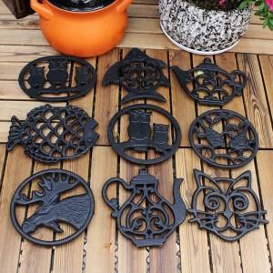 Sottopentola per animali in ghisa - Sottopentola decorativa per bancone della cucina o tavolo da pranzo Design vintage, rustico, artigianale - Cuscinetti caldi