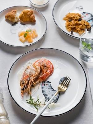 Ciotola di riso della ciotola della tagliatella del piatto della famiglia del piatto di ceramica di Cat Fun Glaze Color