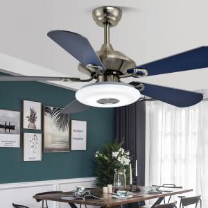 Ventilatore a soffitto con luce semplice foglia di ventilatore in legno Soggiorno Ristorante Lampada a spirale a ventaglio Caffetteria Camera per bambini leggera