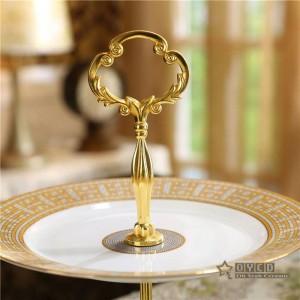 "Disegni ""H"" in mosaico di ceramica con design a mosaico Piatti di frutta Set di piatti per torte in ceramica a 2 strati per pasticceria a forma di cuore"