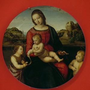 Piatti in ceramica Famoso pittore Rapheal Vergine Maria Religione cattolica Lunetta Santa Madre di Dio Wall Decorazioni per la casa Pittura