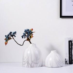 Vaso da tavolo in ceramica Vasi decorativi Vasi da fiori Trama in marmo Grano Accento Decor