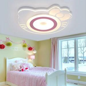 Lampada da soffitto per bambini Camera da principessa per ragazze Camera da letto per gatti Hellokitty calda creativa Camera da letto Camera per bambini Lampada da soffitto a LED in acrilico