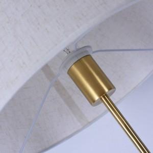 Lampada da terra classica in rame Lampada da tavolo moderna da ufficio con orientamento regolabile Lampada da terra bianca semplice Illuminazione domestica