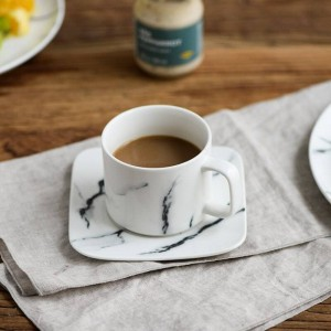 Set di piatti per tazza di caffè Nordic Creative Marmo modello tazza e piattino