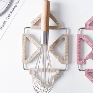 Cuscino pieghevole antiscivolo colorato resistente al calore Sottopentola Padella Tovaglietta Portabicchieri Cuscino Sottobicchiere Accessori da cucina