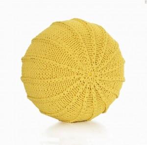 Cotton Craft - Pouf da terra in stile Dori con pouf lavorato a mano - Cavo in treccia di cotone 100% - Pouf rotondo fatto a mano e cucito a mano