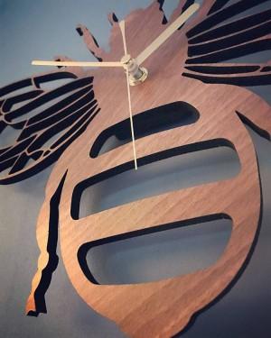 creativo bambù / legno ape orologio da parete giardino natura decorazione parete appeso orologi da tavolo orologio al quarzo soggiorno camera da letto