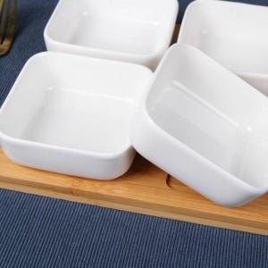 Creativo quadrato in ceramica Piatto kimchi per snack Insalatiera per frutta secca Piatto per salse Zucchero e crema Pentole Stoviglie Vaso per spezie