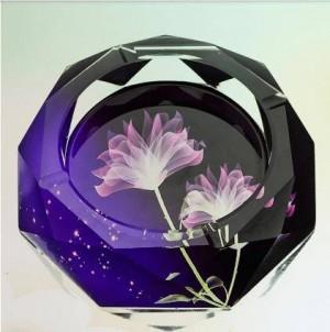 Posacenere di cristallo creativi, articoli per la casa e forniture per ufficio, diametro 12 cm