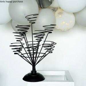 Creativo Macaron espositore Decorazioni per la casa Festa di nozze Organizza Cup cake rack Wire frame decorazione cristmas