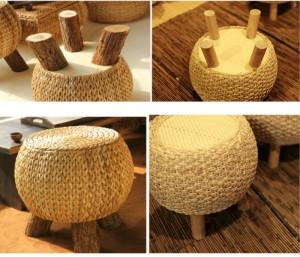 Sgabello da tè in legno massello naturale creativo Sgabello da divano per uso domestico Sgabello per panca per piccoli cambi Sgabello per il tempo libero stabile multiuso