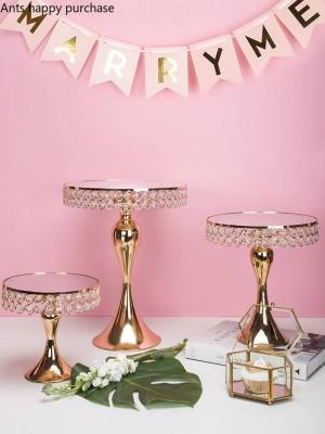 Creativo stile nordico ferro da sposa in metallo Scaffale per torta Scaffale da tavola da dessert Piatto da frutta Espositore Strumenti per decorare la torta