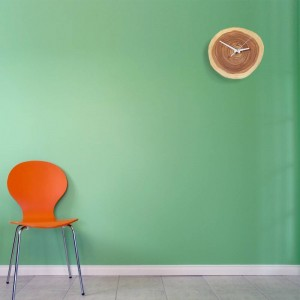Creativo in legno massello Anello annuale Orologio muto semplice orologio da parete in legno naturale orologio da parete design moderno