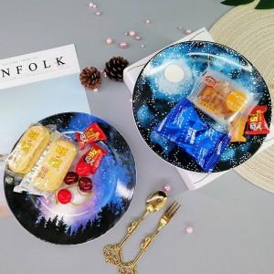 Piatto creativo della frutta della decorazione dell'organizzatore della casa del piatto da dessert del vassoio di stoccaggio dei gioielli del piatto creativo di ceramica del piatto
