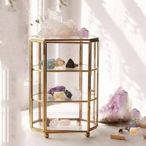 Scatola di immagazzinaggio creativa Vassoio di stoccaggio di gioielli in vetro nordico Scatola di gioielli in vetro trasparente Ornamenti per la decorazione domestica