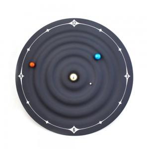 Creativo Orologio da tavolo Design moderno Orbita Galassia Orologi magnetici Pianeta Palla Orologio da scrivania Installazione a parete o desktop Home Decor 8 pollici