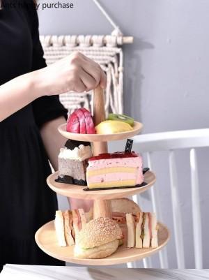 Tavolo da dessert in legno creativo Supporto per torta Espositore Portavivande Matrimonio Festa di compleanno Conservazione della cucina Decorazioni per la casa