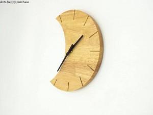Creativo orologio da parete in legno Semplicemente tranquillo soggiorno camera da letto luna orologio da parete orologio da parete design moderno decorazione della casa