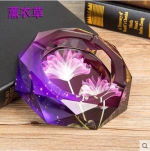 Posacenere di cristallo, artigianato di cristallo, forniture per ufficio, oggetti di decorazione per la casa, regali aziendali, diametro di 0,15 metri