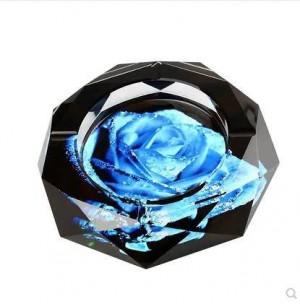 Posacenere di cristallo, decorazioni per la casa, forniture per ufficio, 10 cm di diametro e 12 cm di diametro