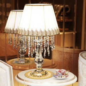 Lampade da tavolo in cristallo per decorazioni da matrimonio Lampade da tavolo a led per cucina da tavolo per manicure con tocco di Halloween Lampada da tavolo per decorazioni natalizie