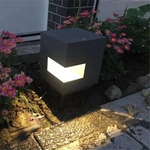 Tipo di cubo Lampada da giardino a led in alluminio Illuminazione per cortile esterno Giardino Villa Illuminazione paesaggistica Luci da prato Lampioni stradali impermeabili