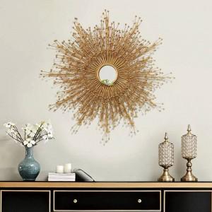 Decorazioni per pareti in metallo personalizzate per soggiorno Occhiali da sole creativi Camera da letto sospesa Decorazioni per hotel a parete in ferro battuto a specchio