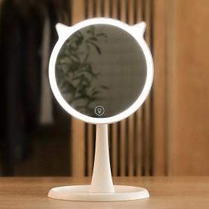 Simpatico specchio luminoso per trucco a LED per uso domestico Touch Screen Specchio per trucco Vanità professionale con luci a LED Decor per specchio mx12281800