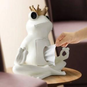 Scatola portaoggetti in resina decorativa Organizzatore per la casa Scatola portaoggetti in resina su tavolo Rana Statua Ornamento Mestiere Scultura regalo
