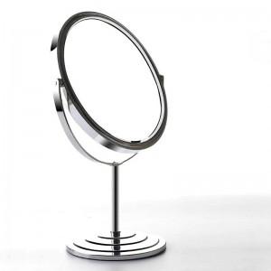 Specchio da trucco bifacciale da tavolo semplice casa in stile europeo 6/7/8 pollici metallo rotondo ingrandisci specchio specchiera mx01111018