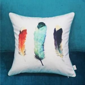 Cuscino per stampa digitale Copricapo di piume di lusso Design Cojines Decorativos Para Divano Coprivaso di Natale Cuscini morbidi per la casa