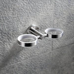 Tazza doppia tazza in acciaio inossidabile Tazza 304 in acciaio inossidabile Porta tazza da parete Porta spazzolino Porta spazzolino 9184K