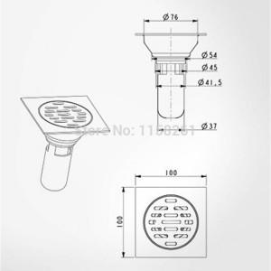 Scarichi 10 * 10 cm Quadrato Acciaio inossidabile Bagno Cucina Pavimento Scarico Coperchio Filtro Deodorante Scarico lineare Griglia Rifiuti HJ-9019A