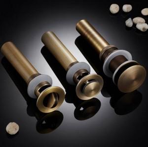 Scarichi Lavello per lavabo in ottone massiccio di buona qualità per bagno Scarico per pop-up con finiture in oro Accessori per il bagno Accessori per rubinetti 8147B